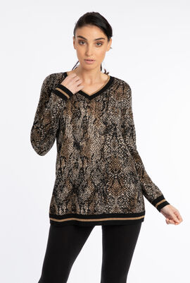 Afelio Printed Sweater