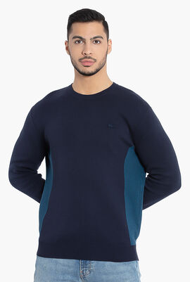 Contrast Effects Knit Sweater