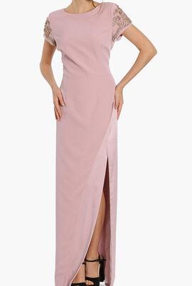 Stone Embellished Evening Dress