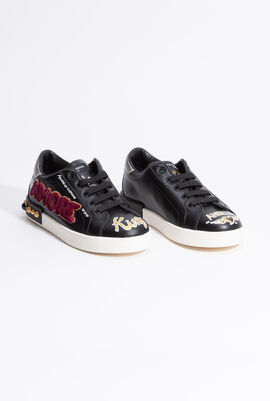 Low Lace Patch Sneakers