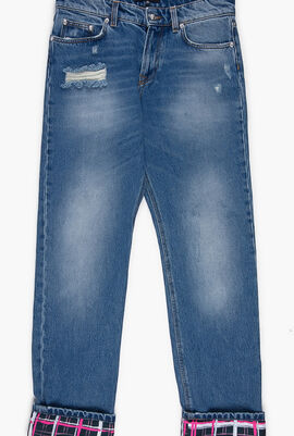 Versus Washed Ripped Jeans