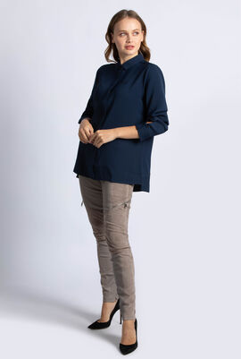 Relaxed Fit Slit Flowing Shirt