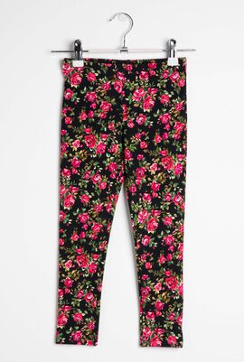 Rose Print Leggings