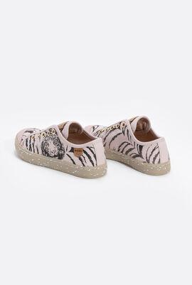 J Kilwi Tiger Print Sneakers
