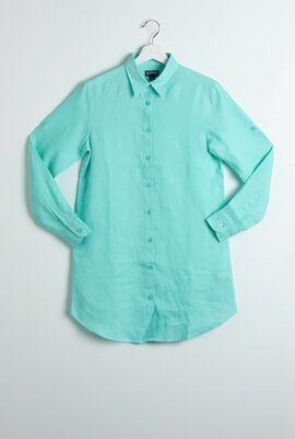 Fragance Linen Lagon Shirt Dress