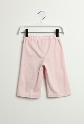Elastic Waistband Capri Pants