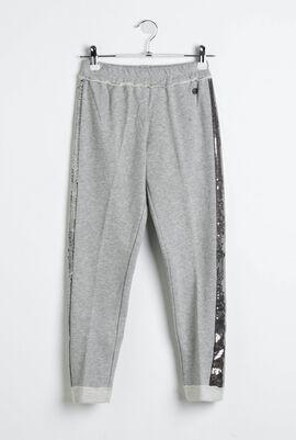 Side Embellished Pantalone In Felpa