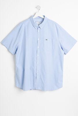 قميص من قطن أكسفورد بقصة عادية