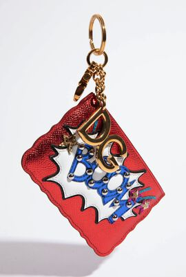Boom' Patch Coin Purse Keychain