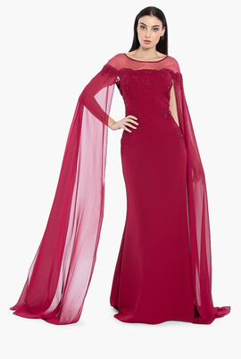 Embellished Long Gown