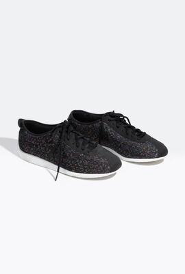 Rainbow Jacquard Black Sneakers