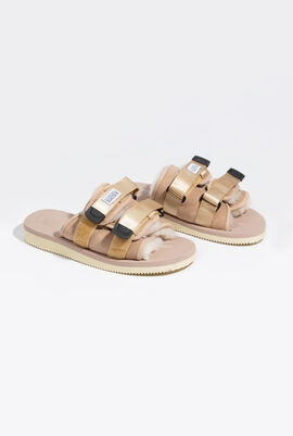 Moto-M2AB Fur Padded Slides