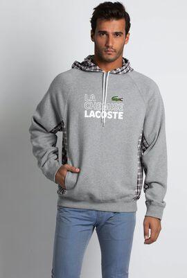 Checked Hooded Runway Collection Sweatshirt