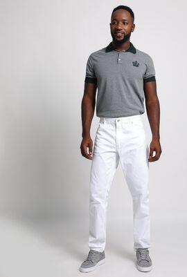 Slim Fit White Trouser