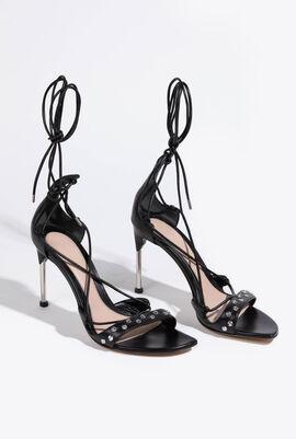 Leather Wrap Strap Sandals