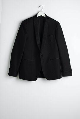 Jacquard Print Smoking  Suit