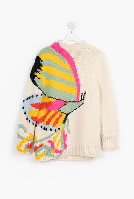 Butterfly Hand Knit Tutleneck