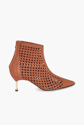 Mahon Woven Leather Ankle Boots