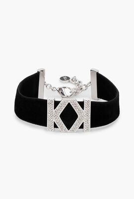 Karl x Kaia Logo K Velvet Bracelet