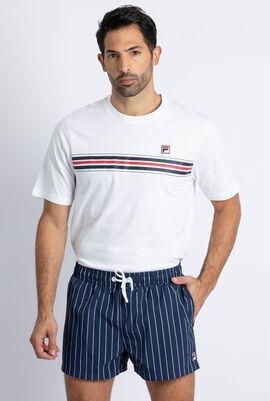 Stripe Drawstring Swim Short