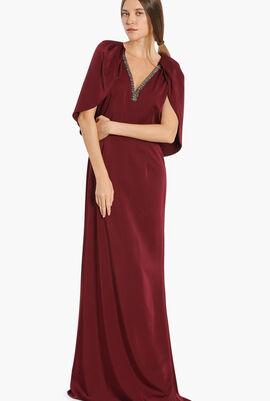 Meister Cape Sleeves Jewel Dress