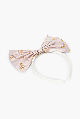 Flower Printed Giant Bow Hairband