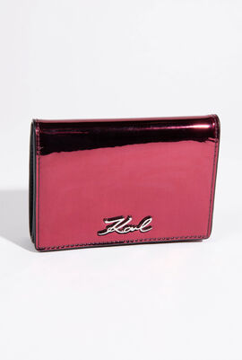 Signature Gloss Fold Wallet