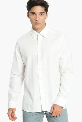 Plain Twill Jersey Slim Fit Shirt