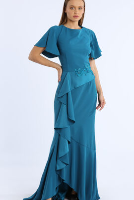 Ruffles Side Long Dress