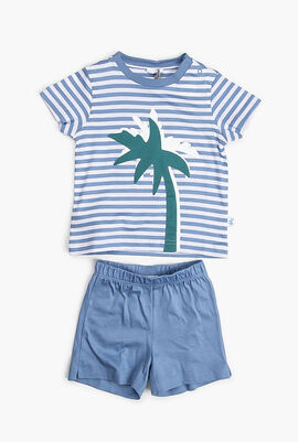 Cotton T-Shirt and Shorts Set