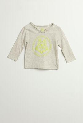 Wolf Print Long Sleeves T-Shirt