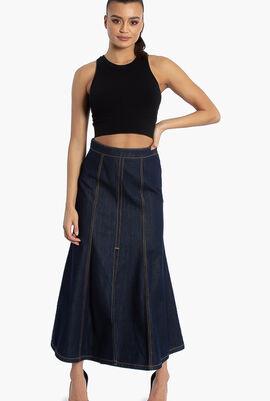 Long Mermaid Denim Skirt