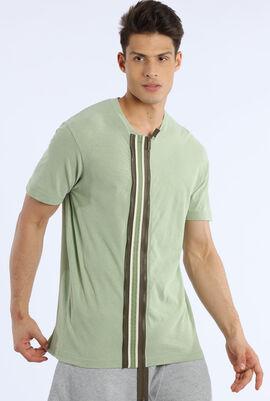 Front Zipper Design T-shirt