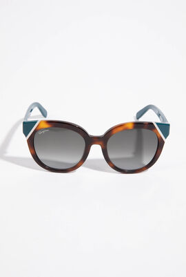 Double Tone Round Sunglasses