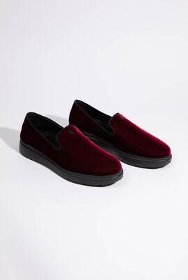 Veronica Velvet Loafers