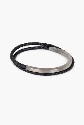 Braided Double Wrap Bracelet 41cm