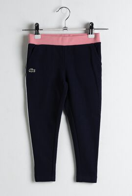 Contrast Accents Fleece Sweatpants