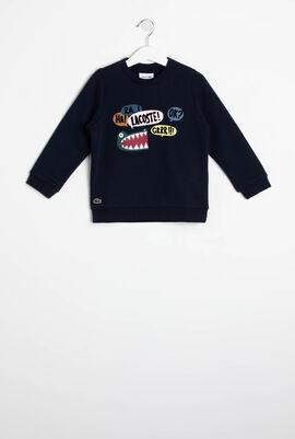 Fun Croc Pattern Fleece Sweatshirt