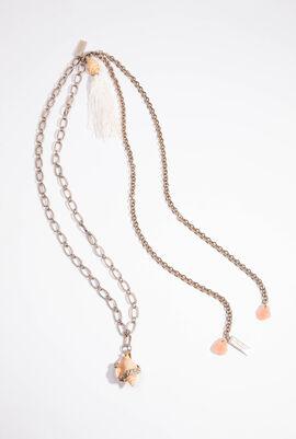 Gold Long Necklace Set