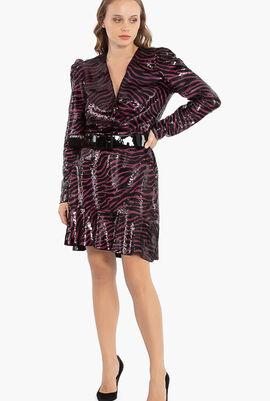 Bengal Long Sleeves Sequin Dress