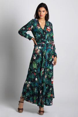 Jungle Printed Long Dress