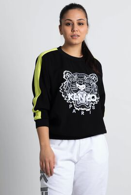 Tiger Crepe Sweater