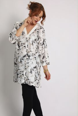 Facile Printed Long Blouse
