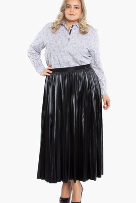 Occulto Pleated Jersey Skirt