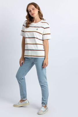 Wide Neck Striped Jersey