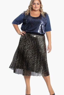 Carbone Sequined Skirt