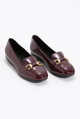 Annytah A Patent Leather Ballet Flats