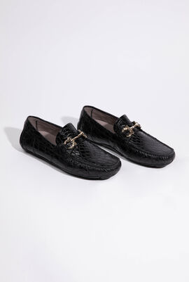 Parigi Crocodile Skin Loafers