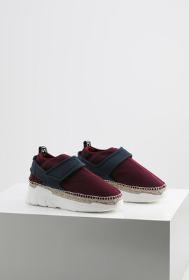 K-Plastic Neoprene Bordeaux Slip-on Sneakers