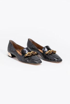 Jessa Snake Print Loafers